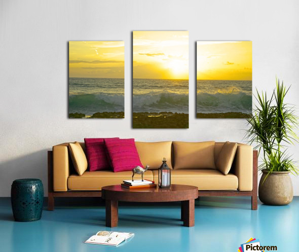 Waves at Sunset Canvas print