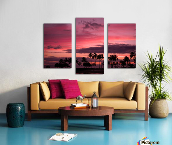 Ease into the Night Canvas print