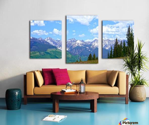 Rocky Mountain High Colorado Panorama  Canvas print