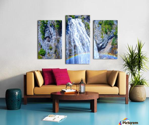 Rainbow Falls Rainier Canvas print