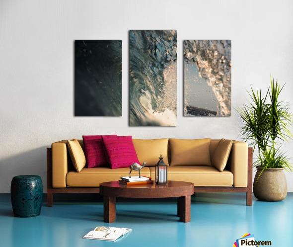 Crystal wave Canvas print
