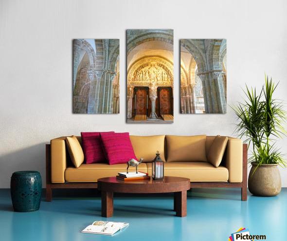 Basilica of Sainte Marie Madeleine 3 of 5 @  Vezelay France Canvas print