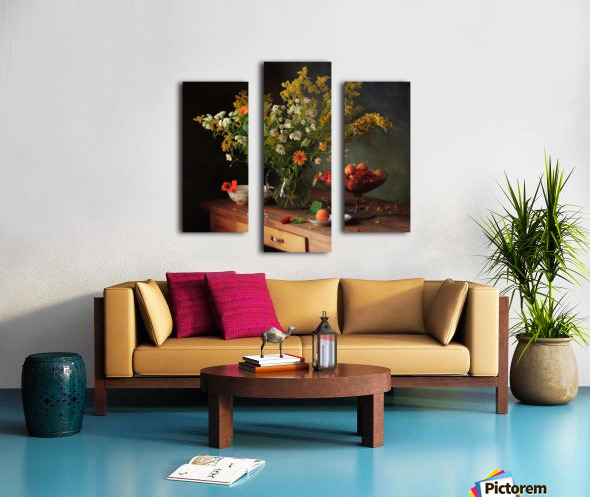 flower by   Canvas print