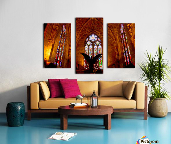 Jeanne d Arc and Saint Croix Cathedral at Orleans   France 5 of 7 Canvas print