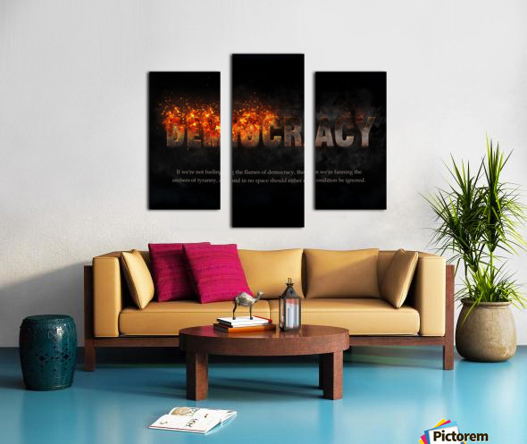 Flames of Democracy  Canvas print
