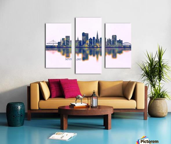 Novi Sad Skyline Canvas print