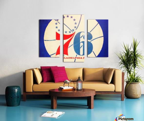 Vintage Philadelphia 76ers Art Canvas print
