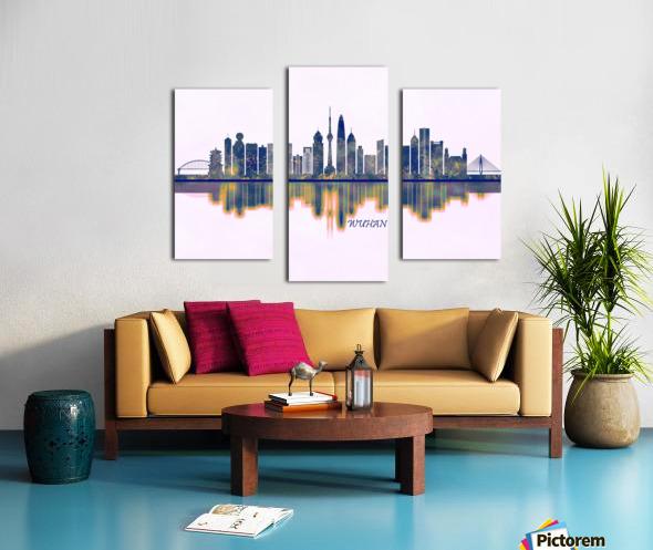 Wuhan Skyline Canvas print