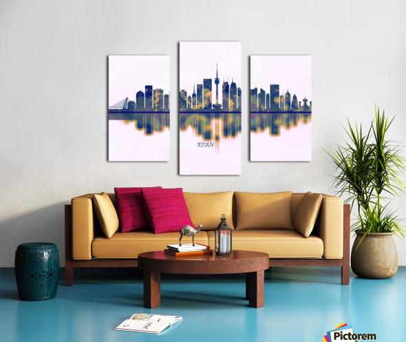 Xian Skyline Canvas print