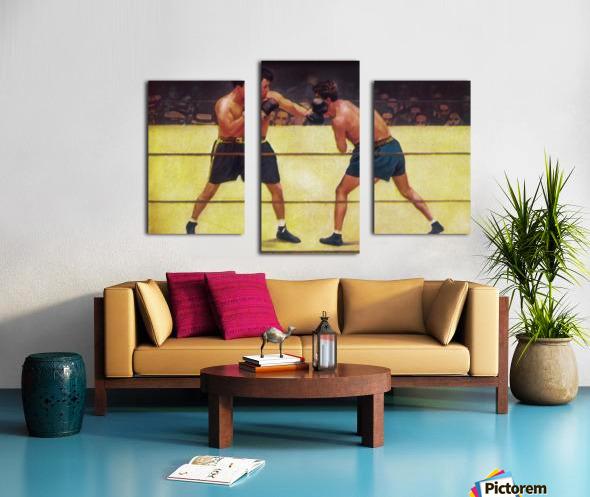 Vintage Boxing Art Canvas print