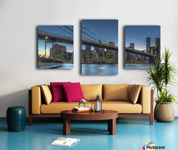 New York - Blue Hour over Manhattan Canvas print