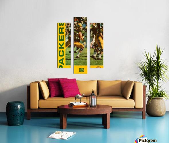 1966 Green Bay Packers Football Art Canvas print