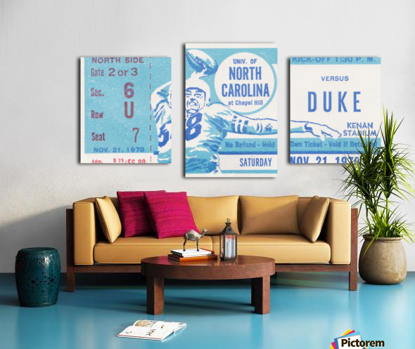 1970 North Carolina vs. Duke Canvas print