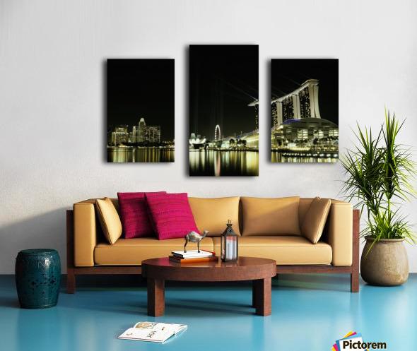Night in the City by hardibudi   Canvas print