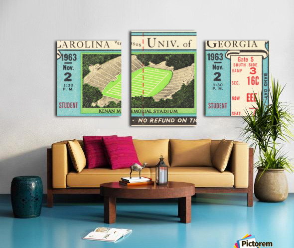 1963 North Carolina vs. Georgia Canvas print