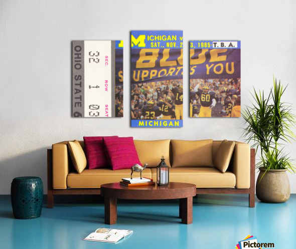 1985 Michigan vs. Ohio State Canvas print