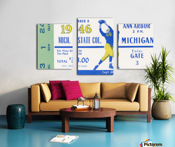 1946 Michigan vs. Michigan State Canvas print