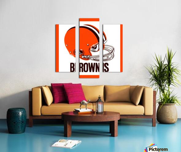 1971 Cleveland Browns Helmet Canvas print