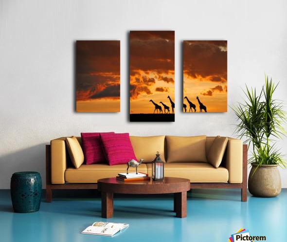 Five Giraffes Canvas print