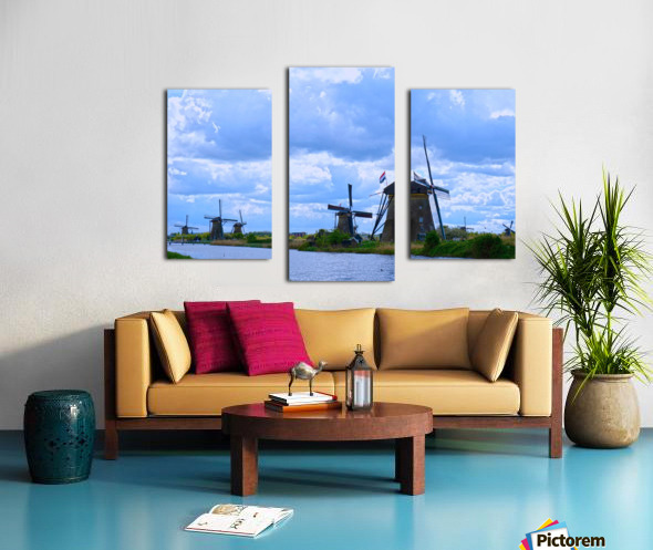 Windmills of the Netherlands 1 of 4 Canvas print