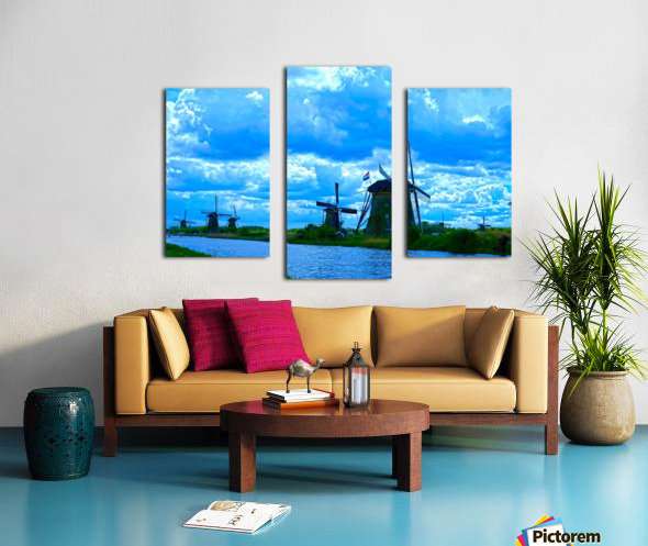 I Dreamed of Windmills Canvas print