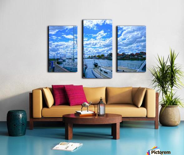 Inland Harbor Netherlands 2 of 5 Canvas print