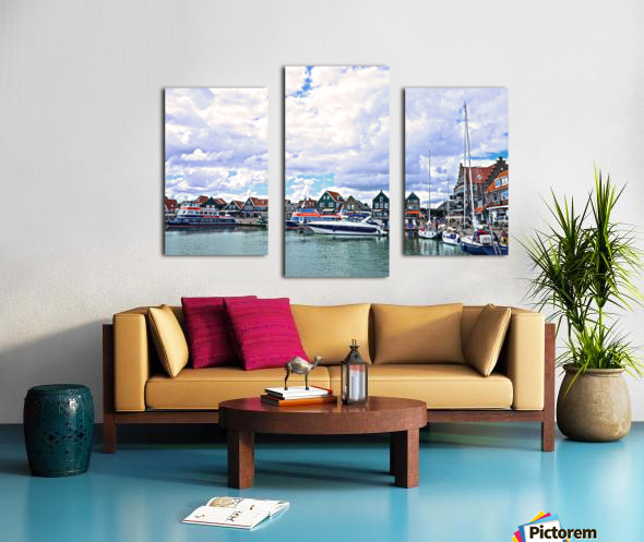 Inland Harbor Netherlands 1 of 5 Canvas print