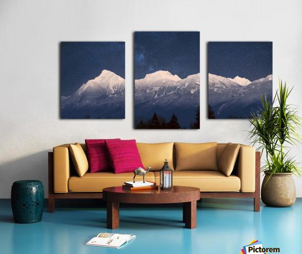 Mt. Cheam Range In Snow Canvas print