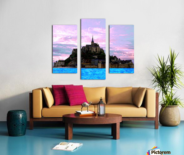 Mont St Michel at Sunset Canvas print