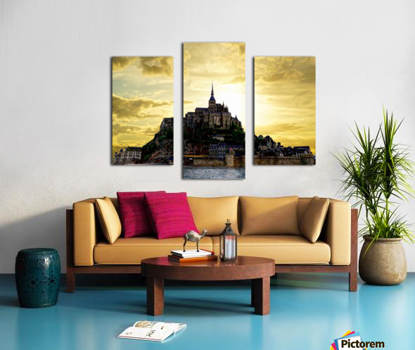 Golden Mont St Michel Canvas print