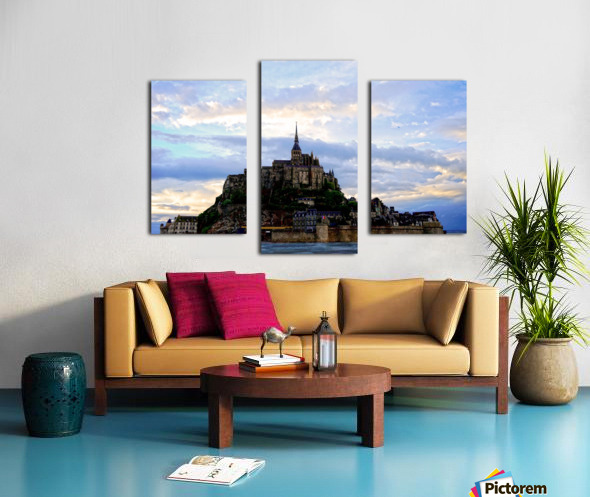 Mont St Michael Rising Tide Canvas print