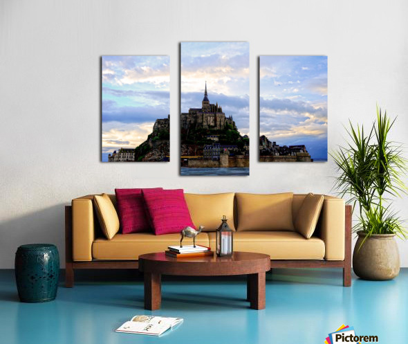 Mont St Michael Rising Tide Panorama Canvas print
