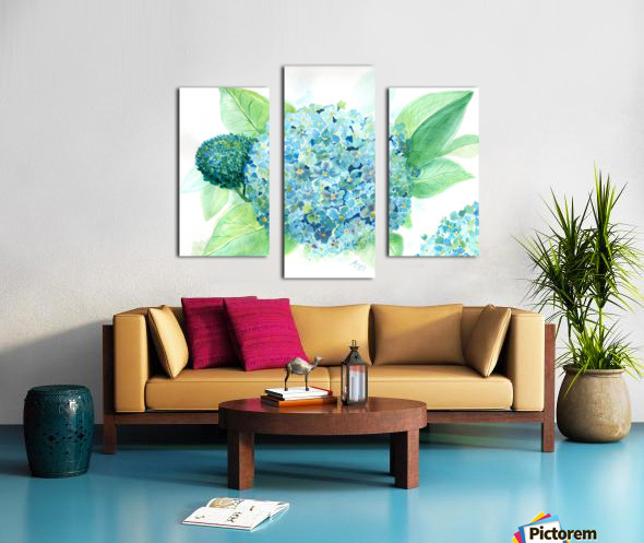 Lovely Blue Hydrangia  Canvas print
