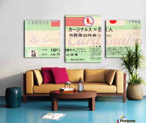 1968 Cardinals Tour of Japan Ticket  Canvas print