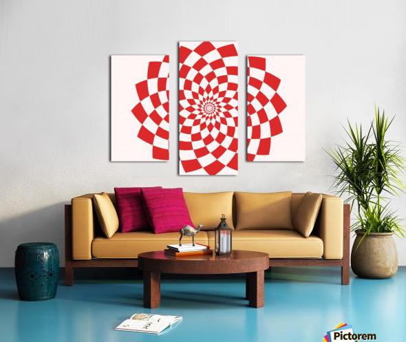 Red flake  Canvas print