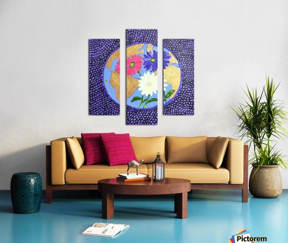 The Earth Daisy Husama Styl-Background Canvas print
