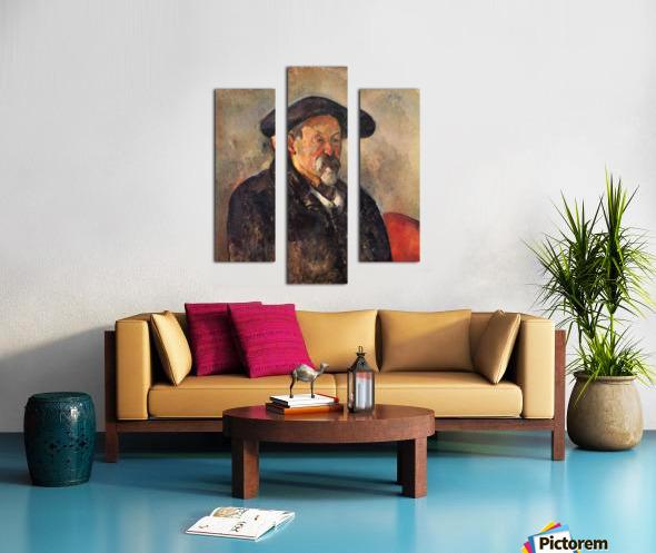 Self Portrait with Beret by Cezanne Canvas print