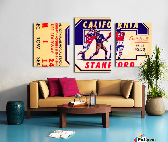 1964 California vs. Stanford Canvas print