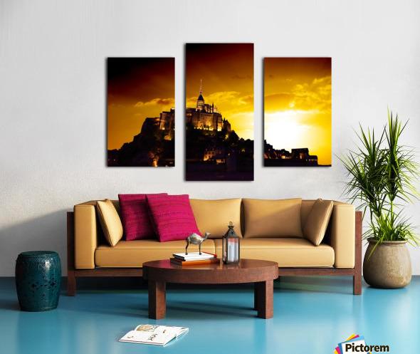 Majestic Mount Saint Michael Canvas print