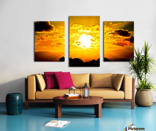 Fire in the Heavens Canvas print