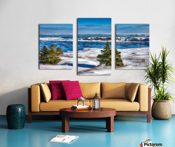 Pointe Saint-Pierre et lIle Plate Impression sur toile