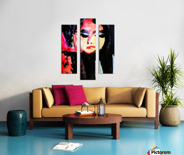 Lady in Black Canvas print