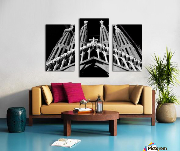 the Cathedral - La Sagrada Familia Impression sur toile