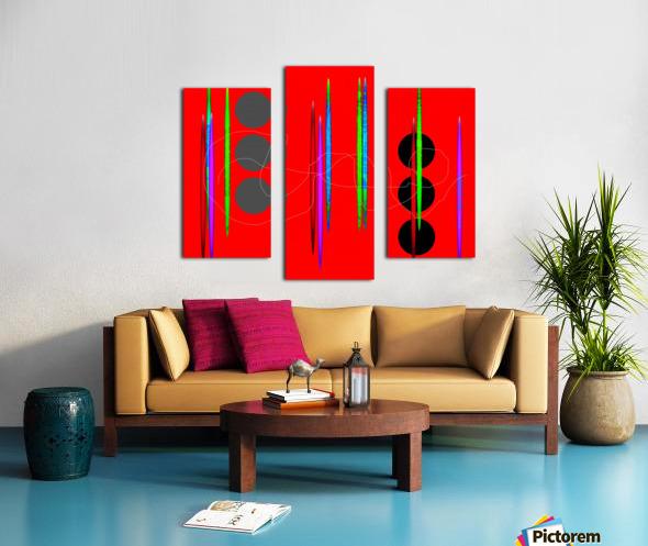 HorizonRedCircles Canvas print