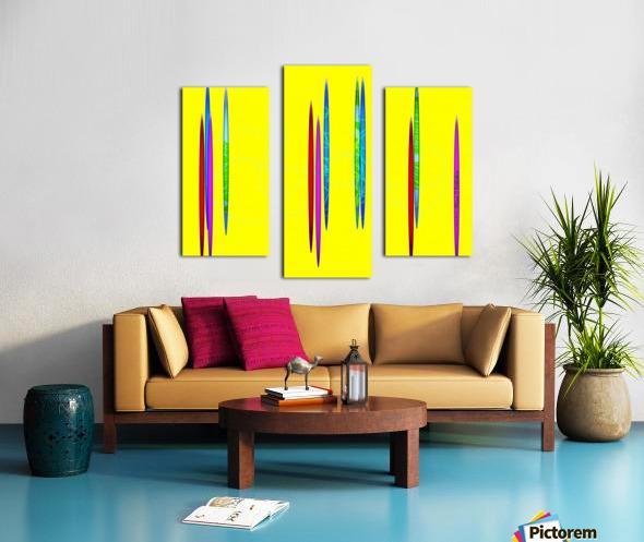 HorizonYellow Canvas print