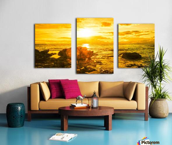 Majestic Sunset Panorama Canvas print