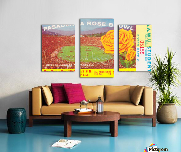 1961 Rose Bowl Washington Win Canvas print