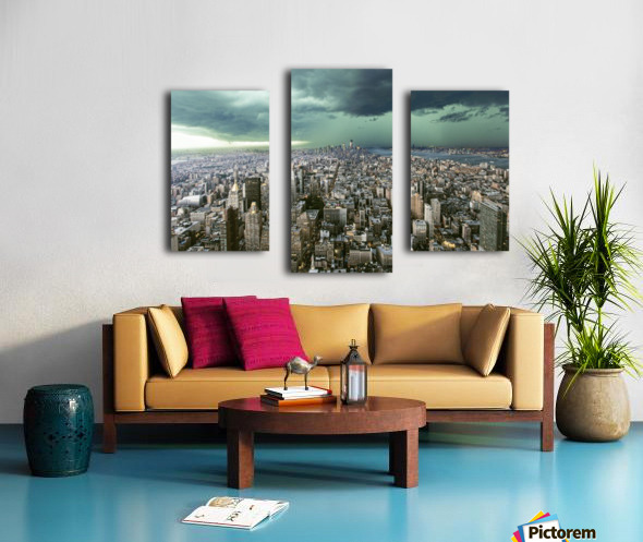 New-York under storm by Pagniez   Canvas print