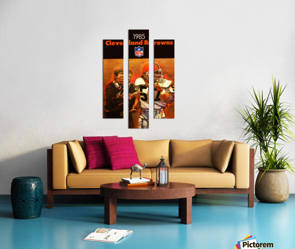 1985 Cleveland Browns Football Poster Canvas print