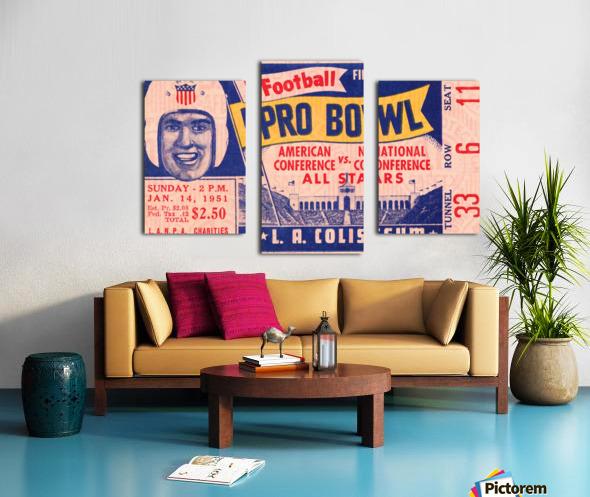 1951 First Pro Bowl Ticket Stub Art Canvas print